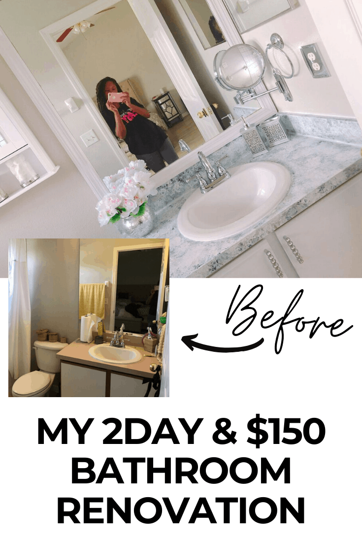 My two day & $150 small bathroom remodel
