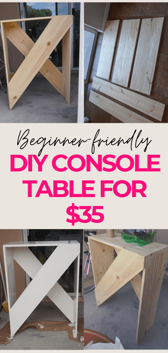 Build your own Easy DIY Console Table for under $35