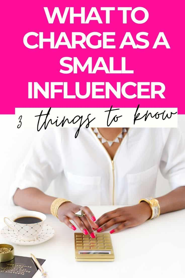 What to charge as a small influencer